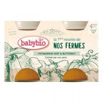 Babybio - Pomme de terre Potimarron vert dès 4 mois 2x130g