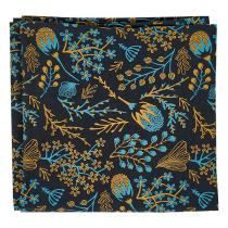 Greenweez - Furoshiki Fleuri jaune et bleu 65x65cm France