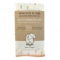 Koshi - Mouchoir en coton Cornets de glace 27 x 27 cm