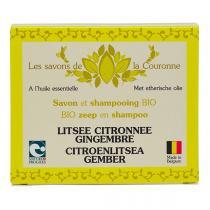 Les Savons de la Couronne - Savon & shampoing Citron Gingembre 100g