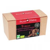Palais d'Ebène - Tuiles de chocolat au lait & éclats de caramel 120g