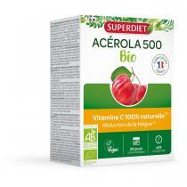 SUPERDIET - Acérola 500 bio 24 comprimés à croquer