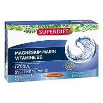SUPERDIET - Ampoules de magnésium marin et vitamine B6 20x15ml