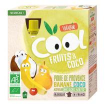 Vitabio - Cool Fruits Poire de Provence Banane lait de Coco Acérola 4x85g