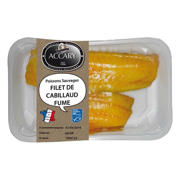 Accary - Filets de cabillaud fumés sauvages skin 200g
