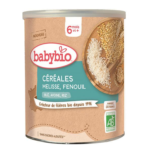 Babybio - Céréales Mélisse Fenouil dès 6 mois 220g