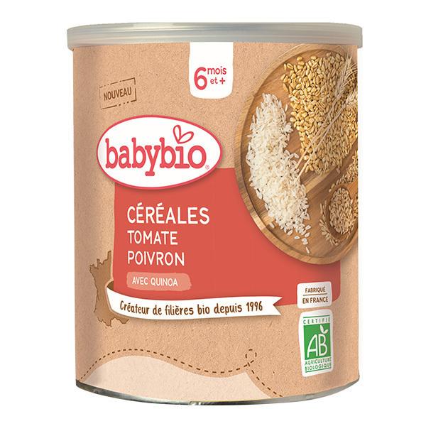 Babybio - Céréales Tomate Poivon dès 6 mois 220g