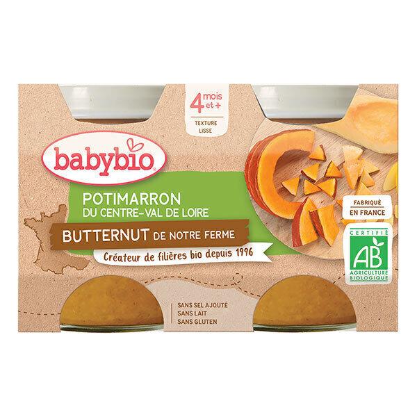 Babybio - Potimarron vert et courge butternut 2 x 130g - Dès 4 mois