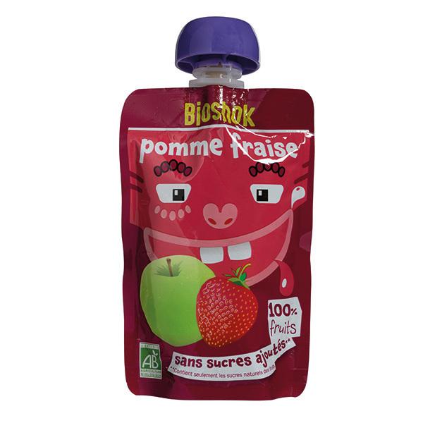 Bioshok - Gourde Fruit Pomme Fraise 100g