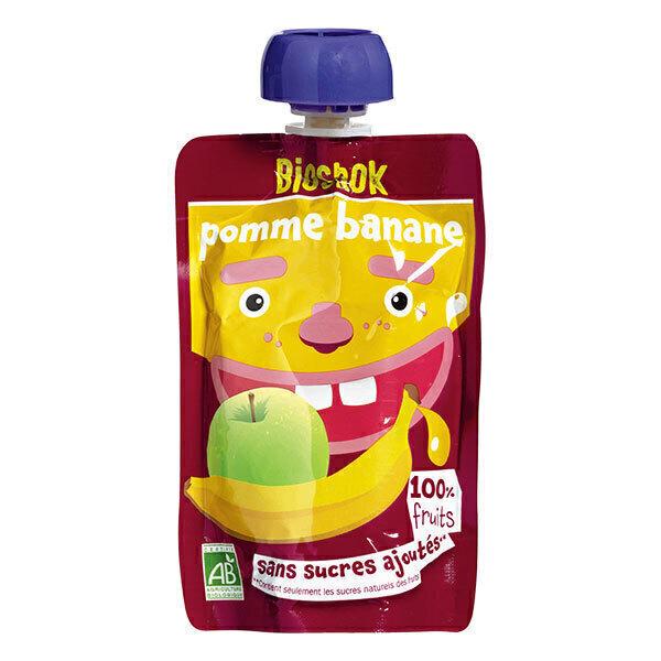 Bioshok - Gourde Fruit Pomme Banane 100g