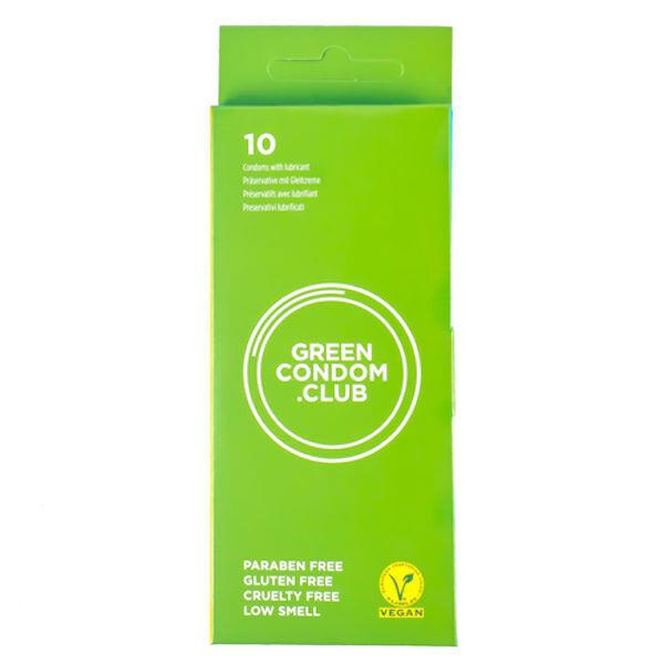Green Condoms - Boîte de 10 préservatifs vegan Green Condoms