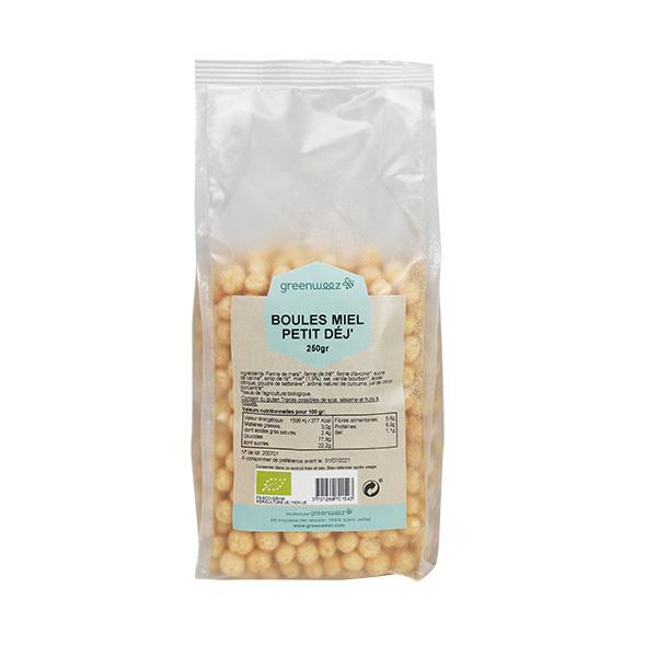 Greenweez - Boules miel petit déj' bio 250g