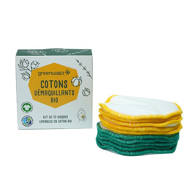 Greenweez - Kit de 10 ronds démaquillants en coton Bio