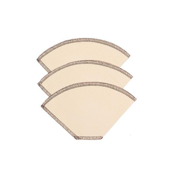 Greenweez - Kit de 3 filtres à café lavables coton Bio 11,8cm