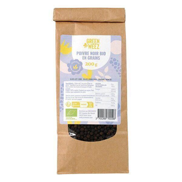 Greenweez - Poivre noir en grains Bio 200g