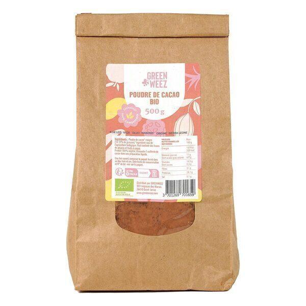 Greenweez - Poudre de cacao Bio 500g