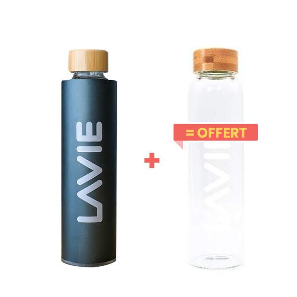 LaVie - Pack Purificateur d'eau 50cl anthracite + 1 bouteille offerte