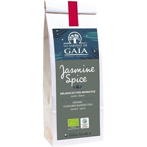 Les jardins de Gaïa - Thé Jasmine Spice Jasmin épices 100g
