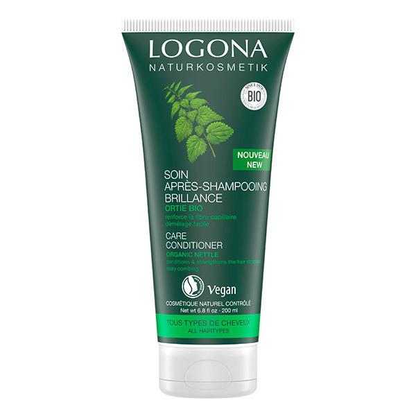 Logona - Soin Après-shampoing brillance ortie Bio - 200 ml
