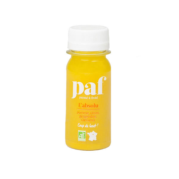 PAF - Shot Absolu gingembre citron curcuma et pomme 50ml