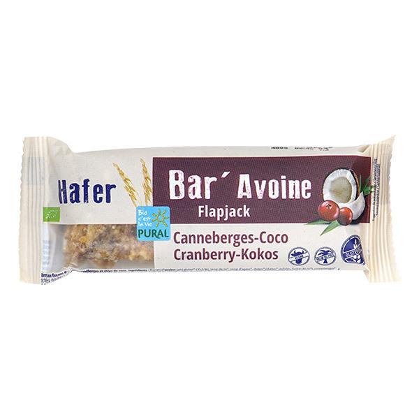 Pural - Bar'avoine canneberge-coco sans gluten 50g