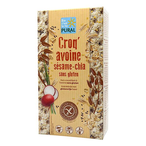 Pural - Croq'avoine sésame chia sans gluten 160g