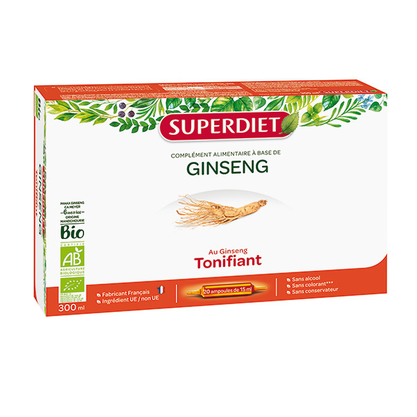 SUPERDIET - Ginseng tonifiant 20x15ml