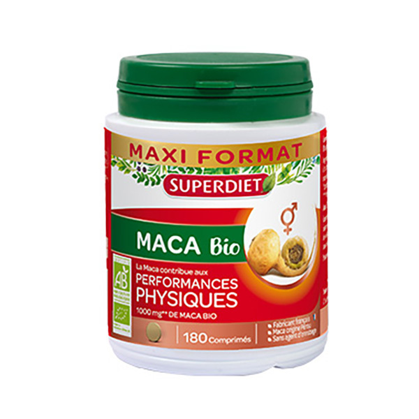 SUPERDIET - Maca bio 180 comprimés