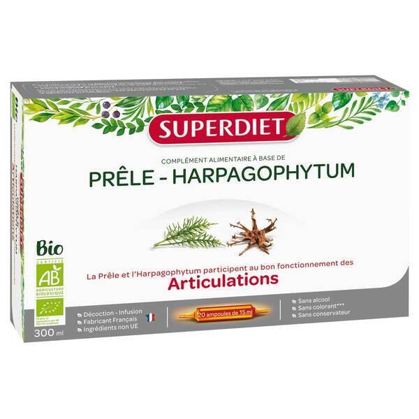 SUPERDIET - Prêle et harpagophytum articulations 20x15ml