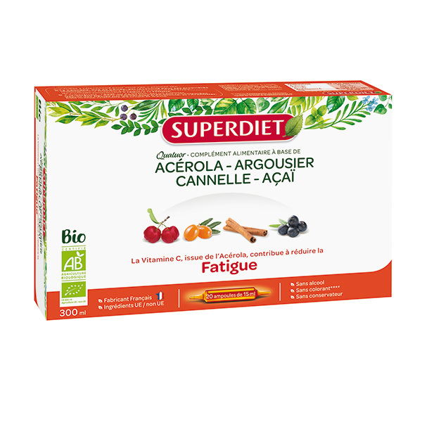 SUPERDIET - Quatuor fatigue 20x15ml