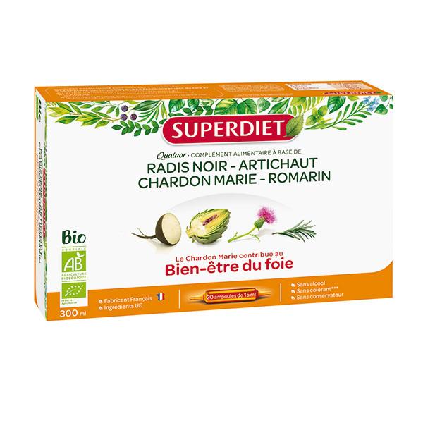 SUPERDIET - Quatuor bien être du foie 20x15ml