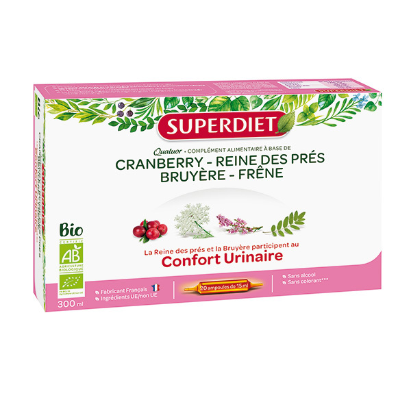 SUPERDIET - Quatuor confort urinaire 20x15ml