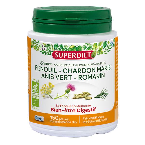 SUPERDIET - Quatuor digestion 150 gélules