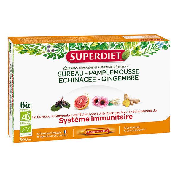 SUPERDIET - Quatuor immunité 20x15ml
