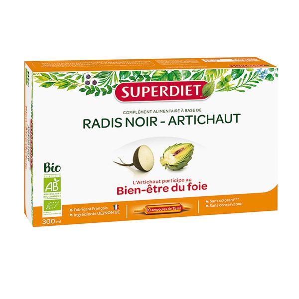 SUPERDIET - Radis noir et artichaut bien-être du foie 20x15ml