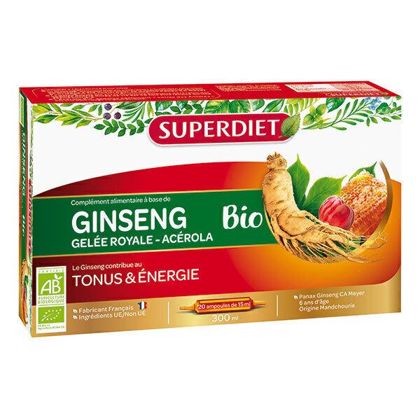 SUPERDIET - Tonus et énergie Ginseng 20x15ml