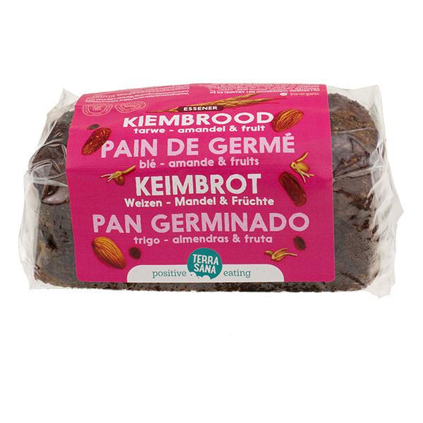TerraSana - Pain de blé germé amandes et fruits 400g