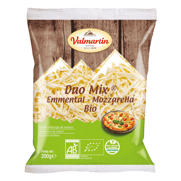 Valmartin - Duo mix mozzarella emmental râpé 200g