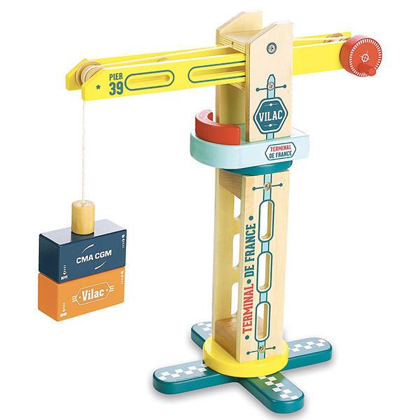 Vilac - Grue de docker rotative Vilacity - Dès 3 ans
