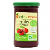 Confit de Provence - Confiture allégée en sucre 4 fruits rouges 290g