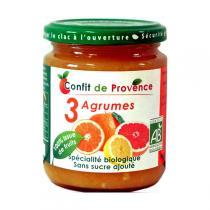 Confit de Provence - Confettura biologica 3 agrumi senza zucchero 290 g