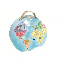 Janod - Rundes Weltkartenpuzzle