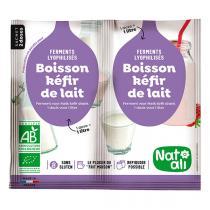 Natali - 2 sachets Ferment Préparation Kéfir de Lait 6g