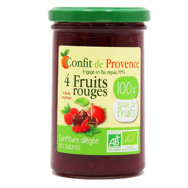 Confit de Provence - Confiture allégée en sucre 4 fruits rouges 290g