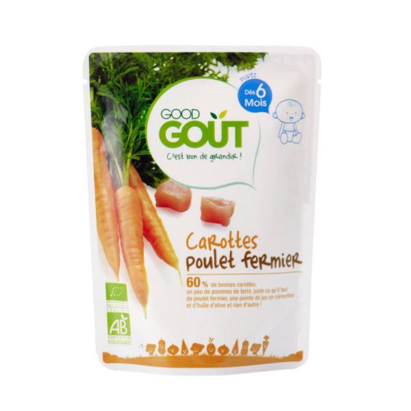 Good Gout - Plat Carottes Poulet 190g Dès 6 mois