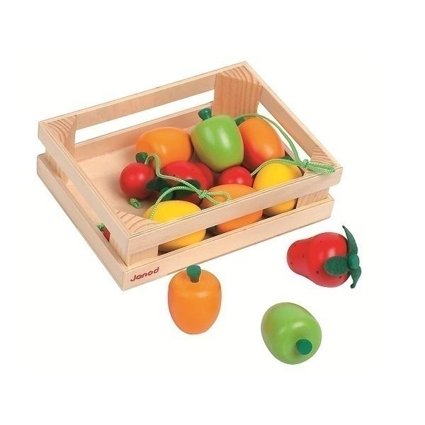 Janod - Caja 12 frutas de madera