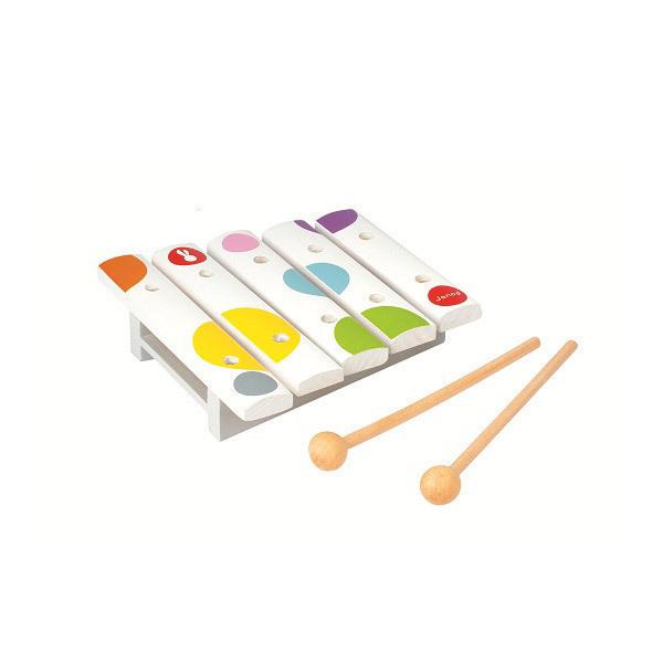 Mini xylophone en bois janod la r f rence for Construction xylophone bois