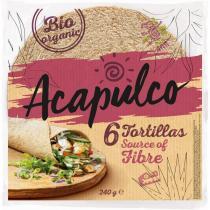 Acapulco - Tortilla Wraps au blé complet x6 240g
