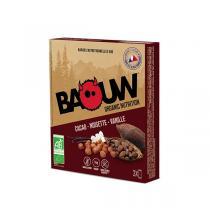 Baouw - Barres cacao noisette vanille 3x25g