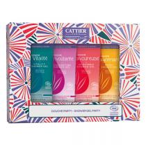 Cattier - Coffret mini gel douche 4x40ml